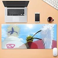 アニメーションゲーム拡張XXLマウスパッド、ステッチエッジ付きマウスパッド、滑り止めラバーベース、コンピューターラップトップキーボードとマウスパッド、防水テーブルマット-Anime06||900x400x5mm