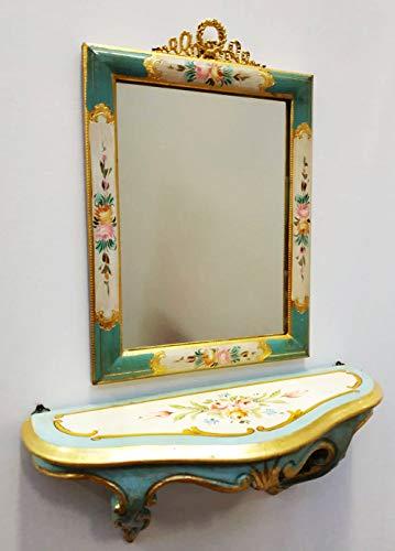 ARREDO Selle Set 2 CONSOLLE und Spiegel im Venezianischen Stil
