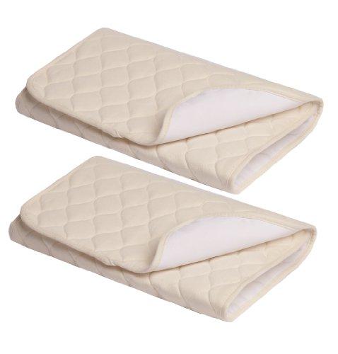 American Baby Company, Funda para colchón, Natural, Almohadillas multiusos, 2 Piezas