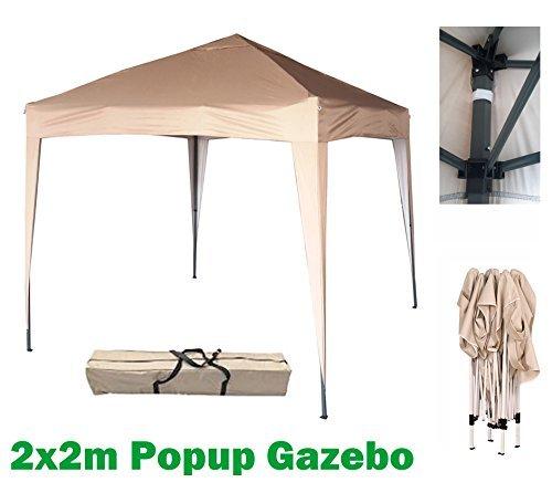 MCC® 2x2 Pavillon, Gartenpavillon, Festzelt, Komplettset, Faltpavillon, Party Zelt (Beige)