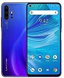 UMIDIGI F2, Smartphone 6.53'' FHD+ Android 10 Telefono Cellulare, 6GB RAM 128GB ROM, Quad Camera AI da 48 MP, Batteria da 5150mAh, Helio P70, NFC, Dual SIM 4G VoLTE Global Cellulari - Blu