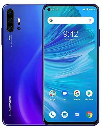 "UMIDIGI F2 Smartphone Libres [Azul] 6.53"" FHD+ Pantalla Ranura híbrida Dual SIM 4G teléfono móvil, 48MP AI Cuatro cámaras, 6GB + 128GB, Android 10, 5150 mAh batería"