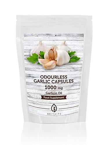 Luktfri vitlök 1000 mg olja extrakt kosttillskott 60 Softgel kapslar kolesterol hälsosamt hjärta förkylning och influensa näringstillskott
