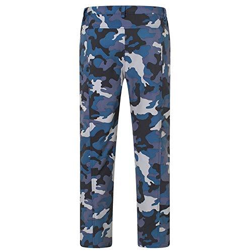 O&K Soft Shell Doublure en Polaire Randonnée Pantalon extérieur imperméable Respirant Épaissir Pantalon d'escalade Chaud de Marche d'automne d'hiver d'homme,Style 1,2XL