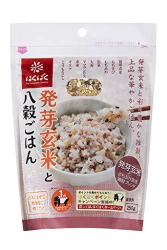 はくばく 発芽玄米と八穀ごはん 250g×6袋入