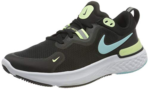 Nike Wmns React Miler, Zapatillas de Running Mujer, Black Glacier Ice Barely Volt, 41 EU