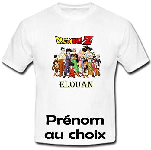 GRAVOPHOTO - Tshirt personnalisé Dragonball Z GT prénom et Taille au Choix