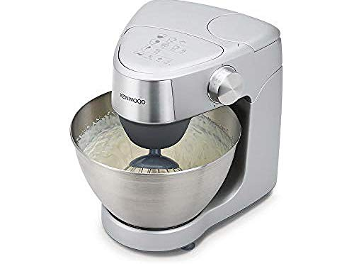 Kenwood Prospero Plus KHC29.A0SI Stand Mixer for Baking, Compact 4.3 Litre Bowl, 3 Bowl Tools, 1000 W, Silver (Kitchen & Home)