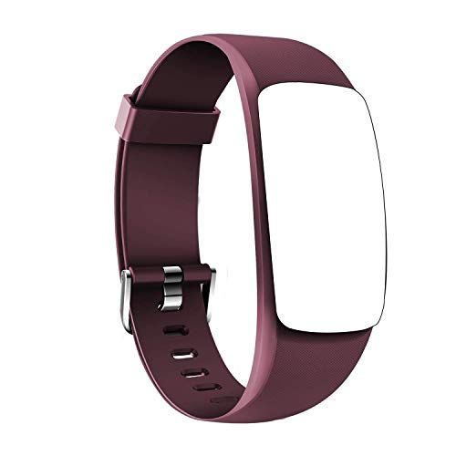 Coffea Fitness Tracker, H7-HR Activity Tracker : Heart Rate Monitor Wireless Smart Wristband Bracelet, Waterproof Fitness Watch with Replacement Band for Android & iOS (Burgundy)