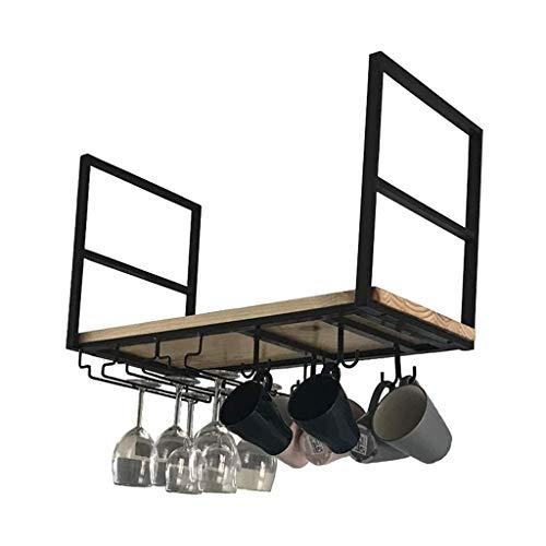 Estantes flotantes, Estante de Techo de Gafas de Vino Colgando de la Cocina Cocina Isla Pot Pan Rack Colgando estantes creativos FDWFN (Size : 100×30×50cm)