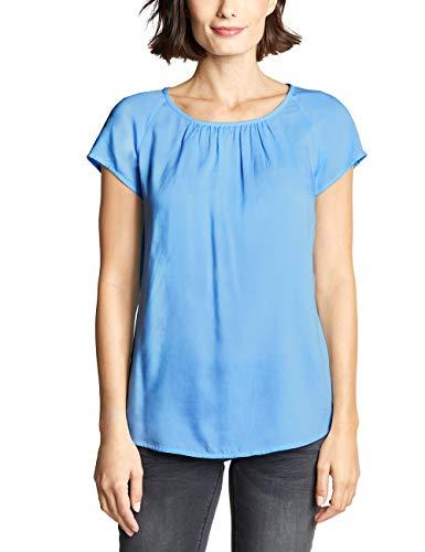Street One Damen Felia Bluse, Blau (Cosmic Blue), (Herstellergröße:42)