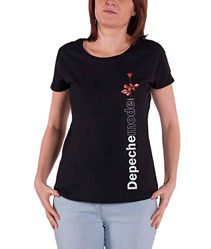 Depeche Mode T Shirt Violator Side Rose Nuovo Ufficiale da Donna Skinny Fit Size M