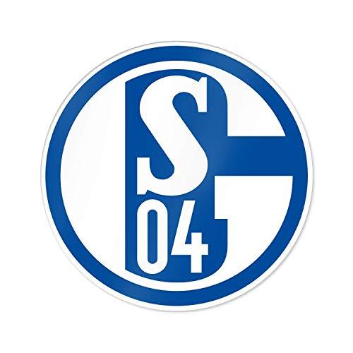 FC Schalke 04 Autoaufkleber, Aufkleber, Sticker blau-weiß Logo S04 - Plus Lesezeichen I Love Gelsenkirchen