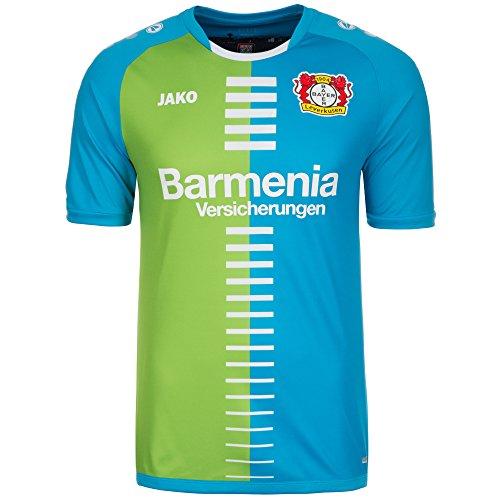 JAKO Herren Trikot 3rd 2016/2017 Bayer 04 Leverkusen, blau/Grün, M-46/48