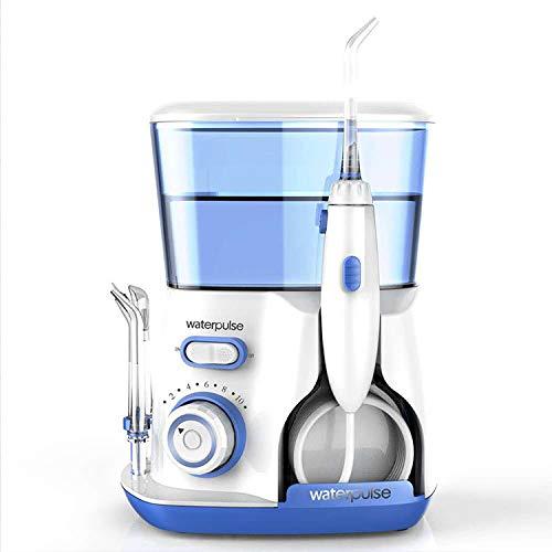 100-240v limpiador dental portátil, limpiador de dientes, irrigador oral recargable de alto pulso, boquilla giratoria de 800 ml de capacidad, productos electrónicos portátiles para viajes y hogar