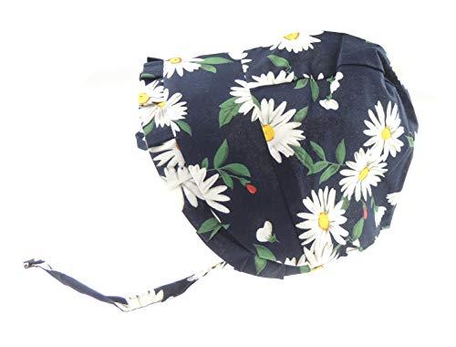 Glamour Girlz Chapeau de soleil pour bébé fille en coton doux Motif floral Bleu 3-12 mois