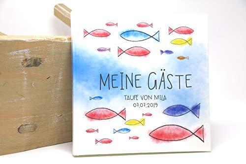 Gästebuch Taufe Konfirmation, Kommunion, Firmung Personalisiert - Eintragalbum - Erinnerungsalbum...