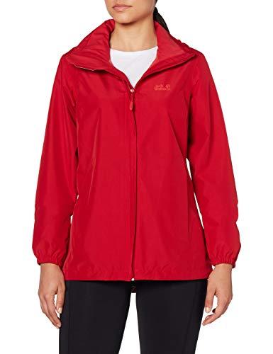Jack Wolfskin Damen Stormy Point Jacket W atmungsaktive Regenjacke, Rot (scarlet), M