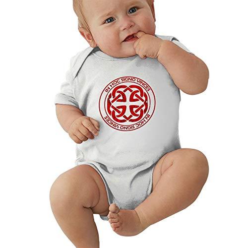 MHQCBL Celtic Knot Fatherhood Logo Boys Girls Newborn Baby Short Sleeve Romper Bodysuit Jersey Bodysuit White