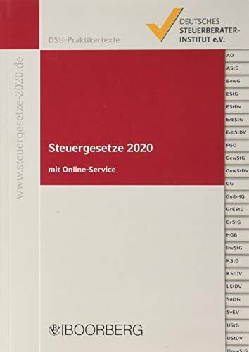 Steuergesetze 2020: mit allen aktuellen Änderungen und Stichwortverzeichnis, inkl. Online-Service