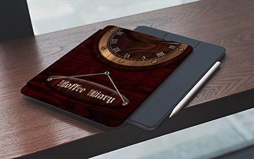 MEMETARO Funda para iPad 10.2 Pulgadas,2019/2020 Modelo, 7ª / 8ª generación,Números Romanos de Reloj Antiguo, Smart Leather Stand Cover with Auto Wake/Sleep