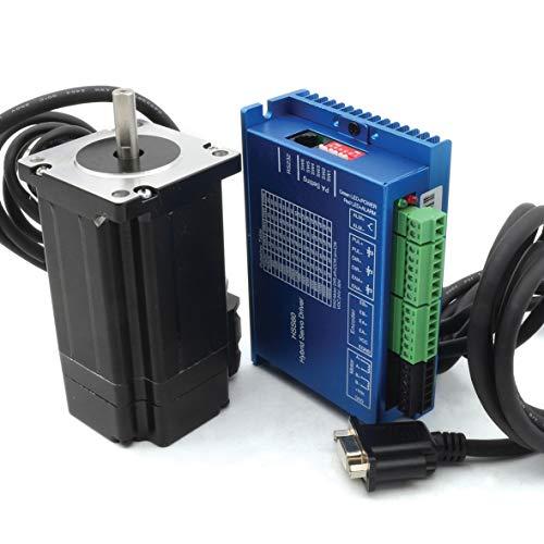 RATTMMOTOR Nema24 - Kit de control de motor paso a paso (3 Nm, circuito cerrado Servomotor y HSS60, control de servo y cable de 2 m) para router CNC