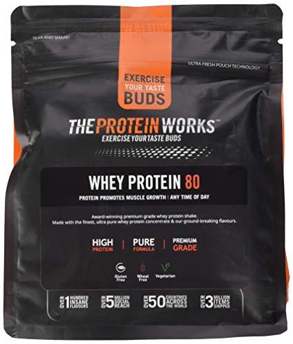 Whey 80 Protein Pulver (Konzentrat)   Premium Eiweißpulver Zum Muskelaufbau, Proteinpulver  THE PROTEIN WORKS, Cookies 'n' Cream, 500g