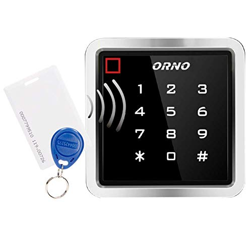 ORNO ZS-816 Wasserdicht Codeschloss mit Kartenleser und Kontaktlose Schlüsselanhängerleser, IP68 Wasserfest, EPROM Speicher