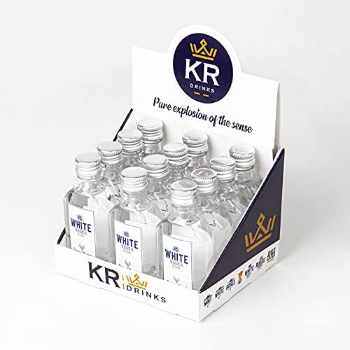 White Vodka Vodka White | 12 Botellas Miniatura 50Ml | Vodka De Intenso Sabor Con Matices Cítricos - 600 ml