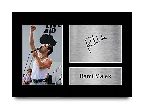 HWC Trading Rami Malek A4 Unframed Signé Image Autographe Imprimé Impression Photo Cadeau D'Affichage pour Bohemian Rhapsody Les Amateurs De Cinéma
