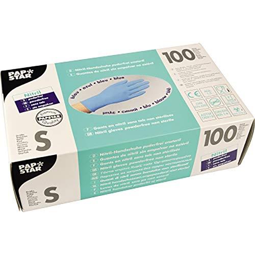 PAPSTAR Einweghandschuh 12267 S Nitril blau 100 St./Pack.