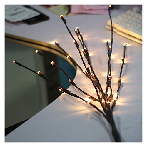 Estilo y fácil de Instalar Navidad luz de la secue La luz LED del jardín de Flores Rama del Sauce de la lámpara Funciona con batería de 20 Bombillas for la Fiesta de Navidad del jardín de Luces de la
