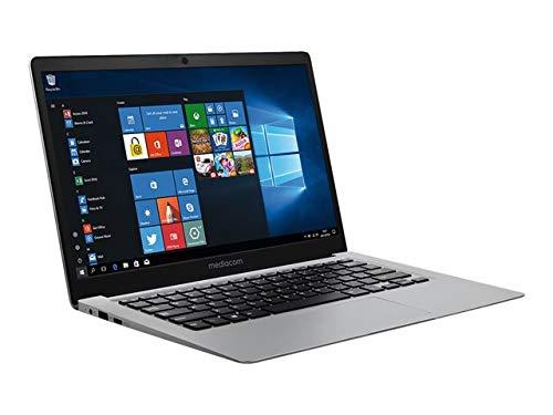 Mediacom - Ordenador portátil SmartBook One – Celeron N3350 / 1,1 GHz – Windows 10 Home – 4 GB RAM – 64 GB – 14 pulgadas IPS 1920 x 1080 (Full HD)