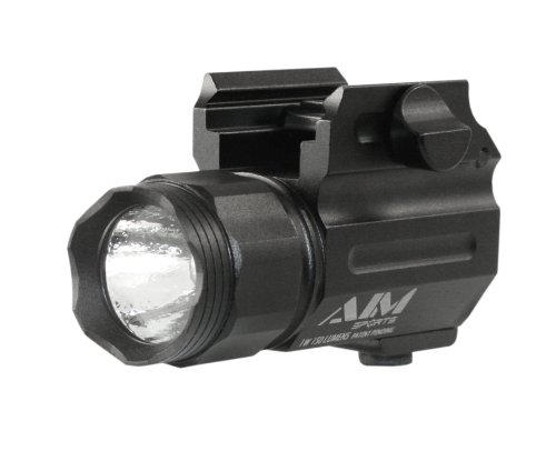 Price comparison product image Aim Sports Flashlight 150-Lumen Compact Flashlight with Quick Release Mount Color Filtered Lens,  Black
