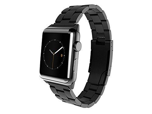 monowear mwmlbk20mtdg–Metallarmband mit Edelstahl Verschluss matt für das Apple Watch 38mm, schwarz