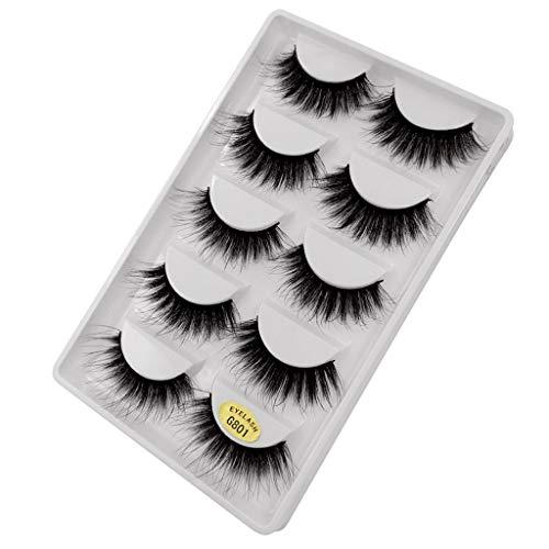 5 paires de faux cils naturel 3D vison cils maquillage beauté cil long cils de vison volume faux cils cilio (Color : 10)