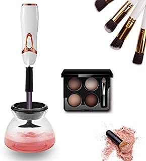 Automatic Makeup Brush Cleaner Spinner Makeup Brush Dryer Electric Makeup Brush Cleaner Device Electronic Cleaning Brush Machine Cosmetic Brush Washing Cleaning Tools Cleans (R1)