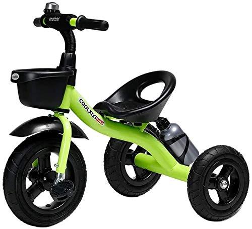 Nologo Fahrrad Kinder Kleinkind Tricycle Kinder Trike Dreirad for Kinder Alter 2/3/4/5/6 Jahre alt, Außen 3 Wheeler Pedal-Fahrt mit Ablagekorb und Becherhalter
