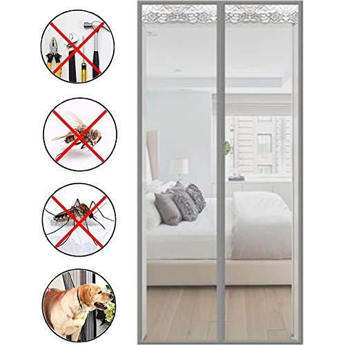 French Door Screen magnetische sluiting, Heavy Mesh Curtain, adsorptie Foldable Anti Energy Loss Ruis reduceren, for de woonkamer/Patio/glazen schuifdeur, Vissersboot/boerderij