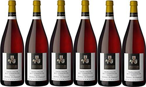 """Weinkellerei Hohenlohe Heuholz Edition""""HD"""" Trollinger mit Lemberger QW trocken - im Eichenfass gereift (6 x 1L)"""