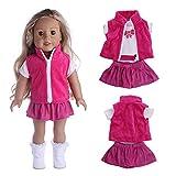 kingko® Accessoire de Robe de poupée de Jouet d'accessoire de Fille de 18 Pouces pour la poupée américaine de Fille poupée Robe+poupée châle Filles des États-Unis (Multicolor)