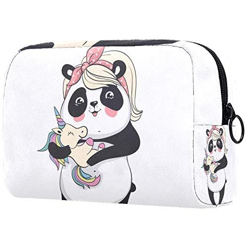 ATOMO Makeup Bag, Fashion Cosmetic Travel Bag Large Toiletry Bag Makeup Organizer for Women, Panda Print