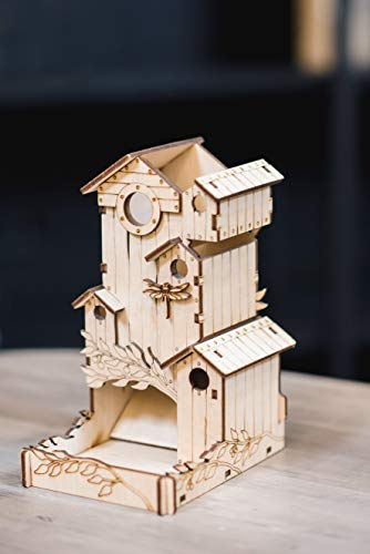 TowerRex Dice Tower and Storage Bird Song for Board Game Wingspan