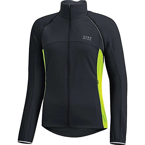 GORE WEAR Damen Phantom Lady Plus Windstopper Zip-Off Jacke, Black/Neon Yellow, 38