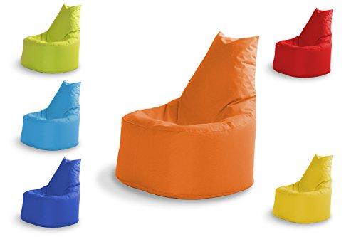 MINDERIM Sitzsäck Outdoor & Indoor Sitzsack Gaming Sessel für Kinder und Erwachsene Sitzsäcke Bean Bag Chair Geeignet Fertig Befüllt mit Styropor Füllung 100% Wasserfest Orange