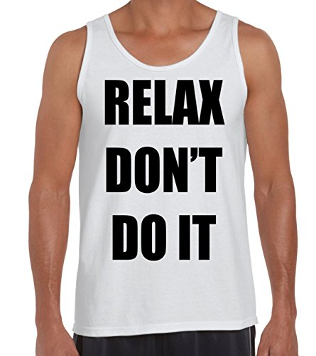 Men's Relax Don't Do It Vest, 3 Colours, S to XXL