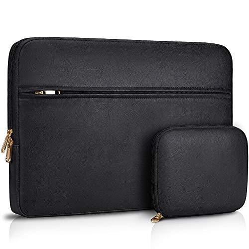 NEWHEY 15-15,6 Zoll Laptop Sleeve Tasche Stoßfest Laptop Sleeve Case für Acer/Asus/Dell/Lenovo/HP Wasserabweisend Slim Neopren Notebook Tragetasche Computer Pocket Tablet mit einer kleinen Tasche