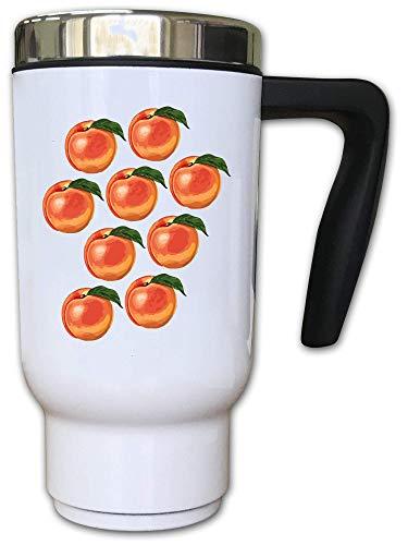 Iprints meerdere perziken fruit voedsel liefhebbers thermische thee koffie mok