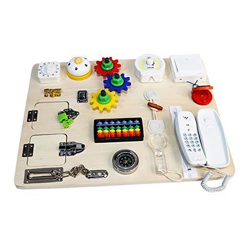 Hellery Busy Board Montessori Juguetes para Bebés Aprendizaje Sensorial Juego de Habilidades Básicas