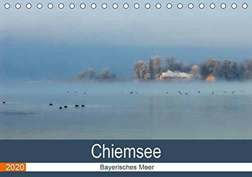 Chiemsee - Bayerisches Meer (Tischkalender 2020 DIN A5 quer): Malerischer See am Fuße der Alpen (Monatskalender, 14 Seiten ) (CALVENDO Orte)